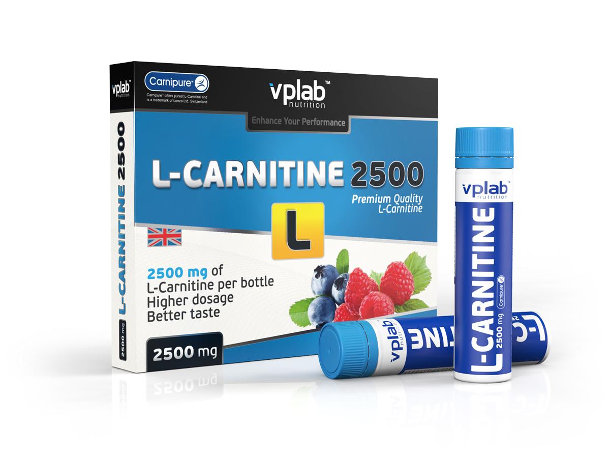 Карнитин VPLab L-Carnitine 2500, 7 ампул х 25 мл l карнитин sport technology nutrition l carnitine guarana 0 5 л