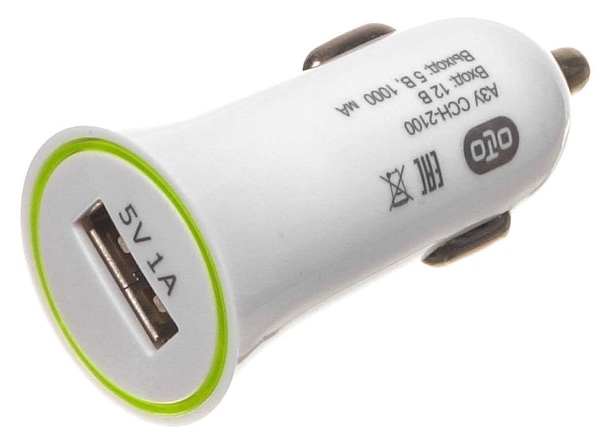 OLTO CCH-2100 автомобильное зарядное устройство автомобильное зарядное устройство olto cch 2200 2а usb белый harper o00000961