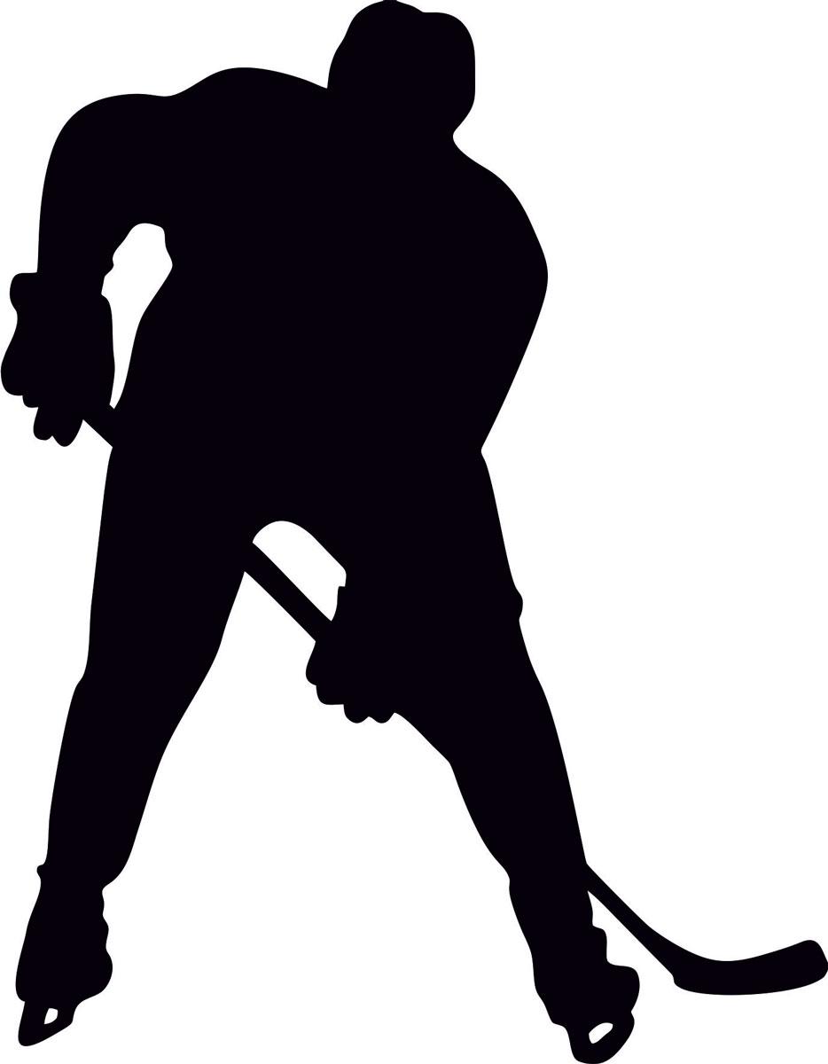 Наклейка автомобильная Оранжевый слоник Хоккей, виниловая, цвет: черный наклейка автомобильная оранжевый слоник охота рыбалка виниловая цвет черный