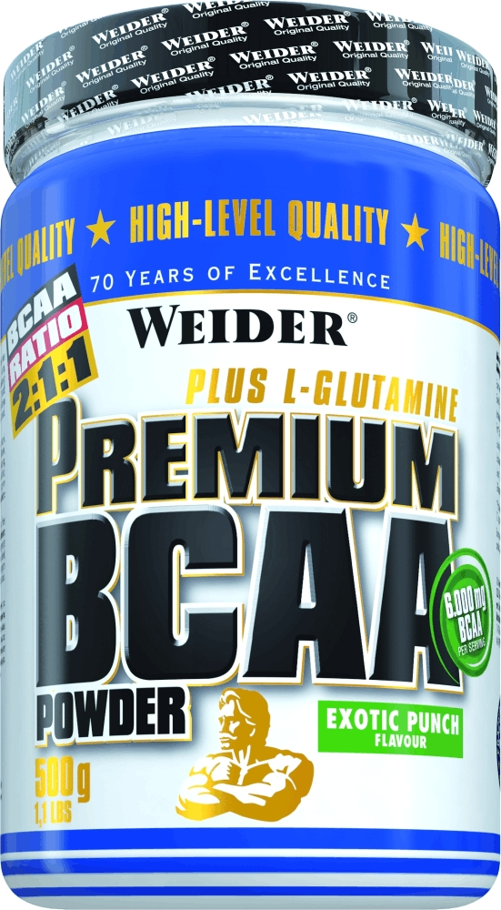 БЦАА Weider Premium BCAA Powder, экзотический пунш, 500 г