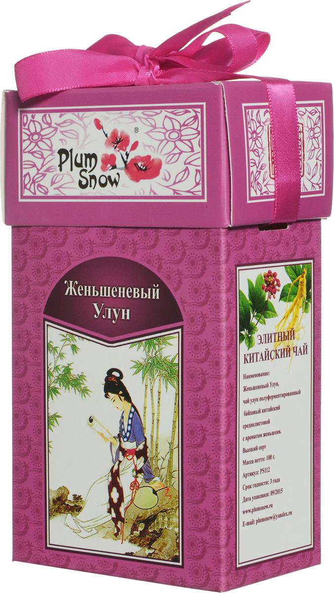 Plum Snow Женьшеневый Улун листовой чай, 100 г цена и фото
