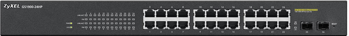 Zyxel GS1900-24HPкоммутатор (24 порта) Zyxel