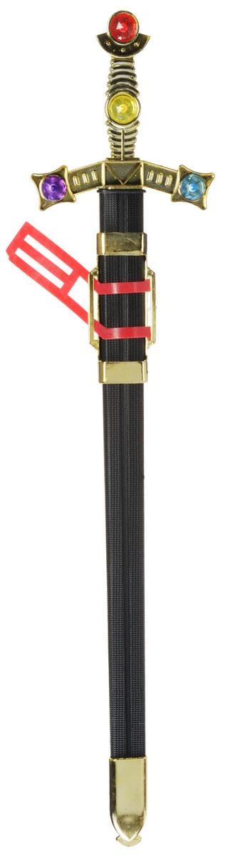 Plastic Toy Меч в ножнах цвет черный золотистый красныйB426153Меч в ножнах Plastic Toy станет отличным подарком юному защитнику. Изделие выполнено из безопасного для ребенка материала.Дизайн игрушечного оружия выполнен в средневековом стиле. Сам меч напоминает своим внешним видом настоящий, даже хранится в ножнах.Благодаря такой игрушке, ваш ребенок сможет почувствовать себя древним воином.