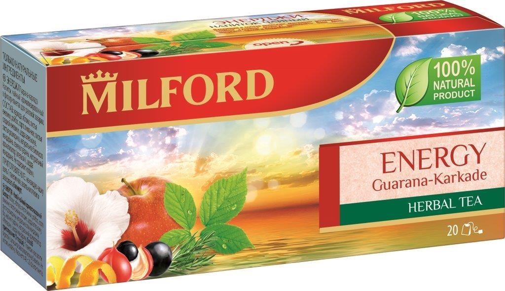 Milford Энерджи травяной чай в пакетиках, 20 шт