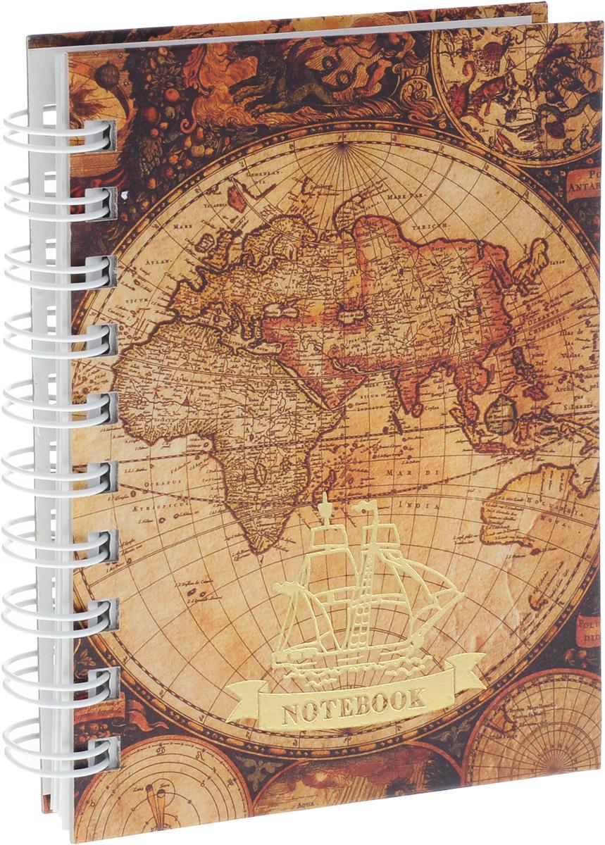 Listoff Тетрадь Старинная карта 100 листов в клетку цены онлайн