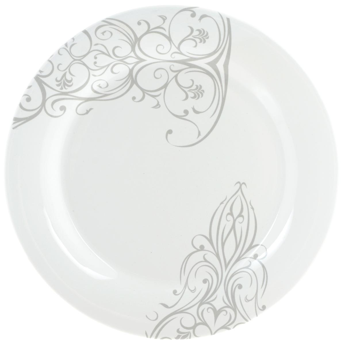Тарелка десертная Ceramiche Viva Черный ирис, диаметр 20 см кружка ceramiche viva фреско cv2 t07 06048 al