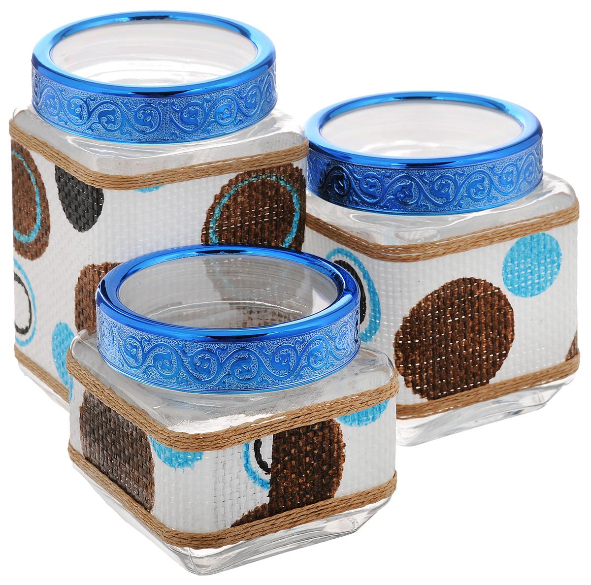 Набор банок для сыпучих продуктов Mayer & Boch, 3 шт. 25510 набор банок для сыпучих продуктов прованс из 4 х шт 1145180