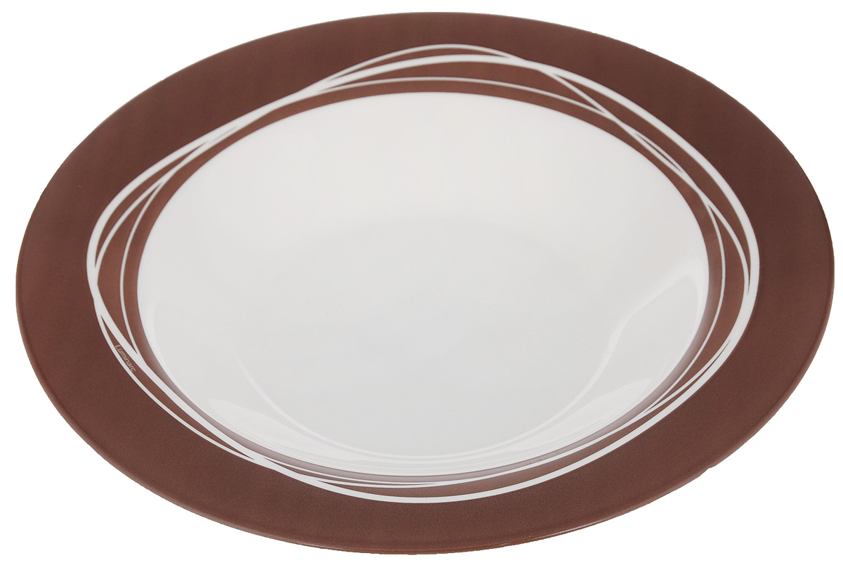 "Тарелка глубокая Luminarc ""Raffia Brown"", диаметр 23 см"