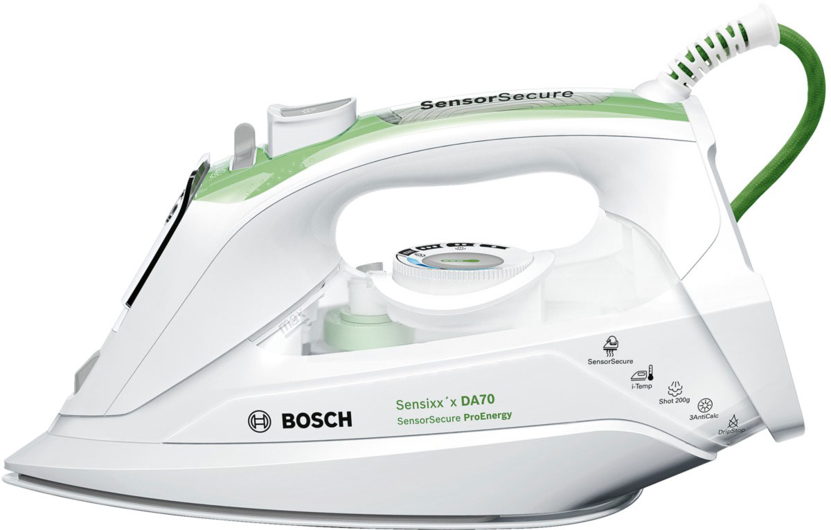 Утюг Bosch TDA 702421E, White Green утюг bosch tda 702421e white green