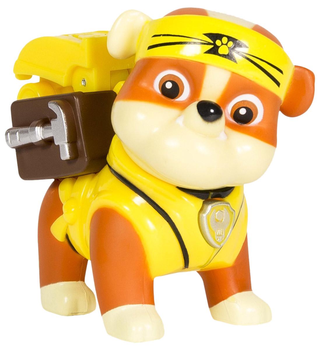 цены на Paw Patrol Фигурка Rubble с рюкзаком-трансформером  в интернет-магазинах