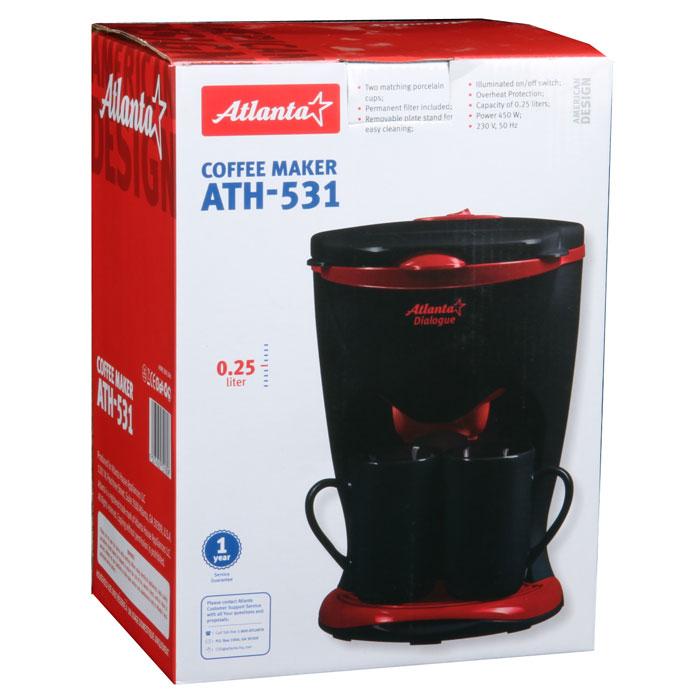 Кофеварка капельная Atlanta ATH-531, Black Atlanta