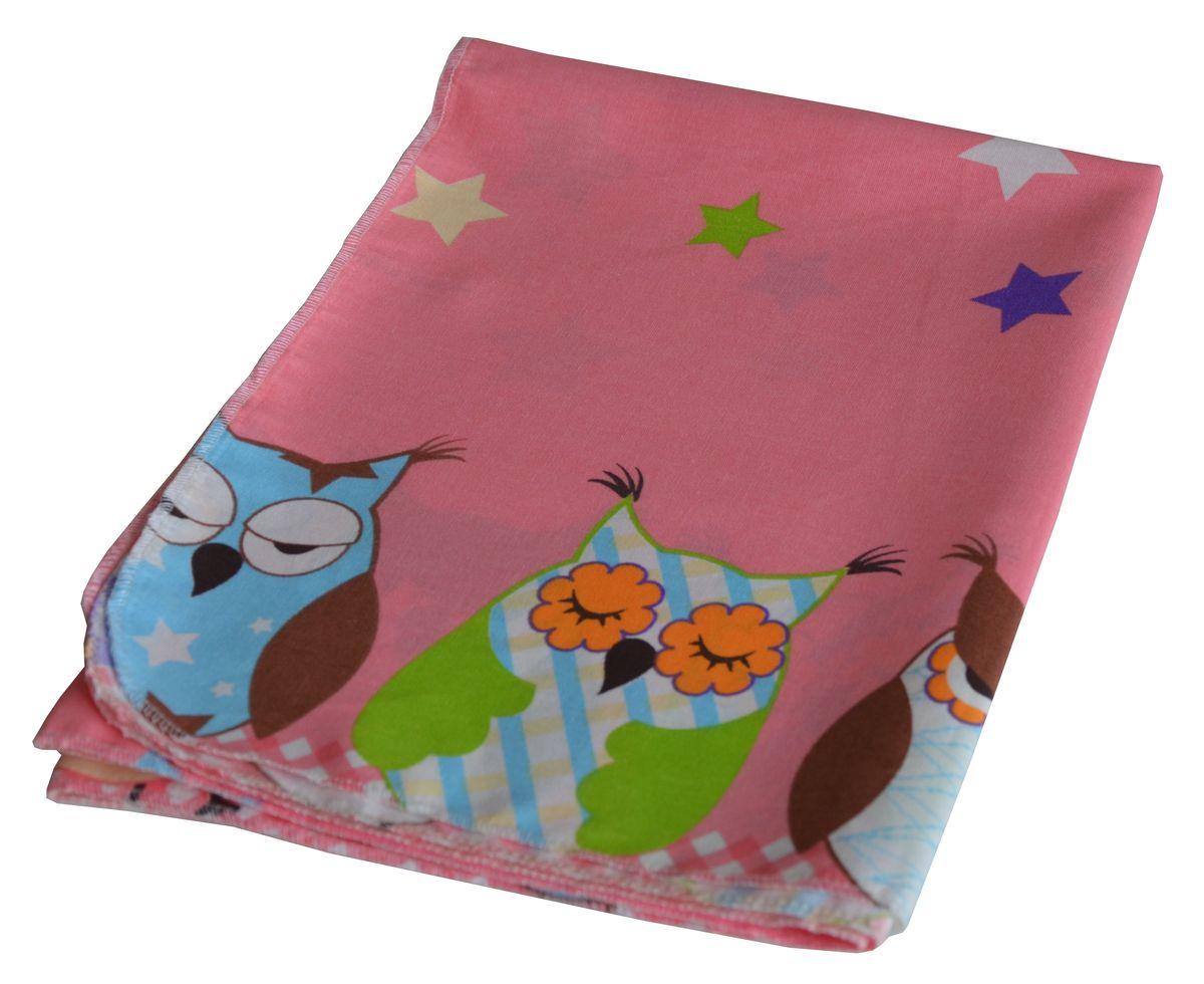 лучшая цена Bonne Fee Простыня детская Совы цвет розовый 70 х 100 см