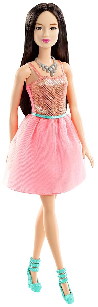Barbie Кукла Брюнетка Сияние моды цвет платья светло-розовый цена 2017