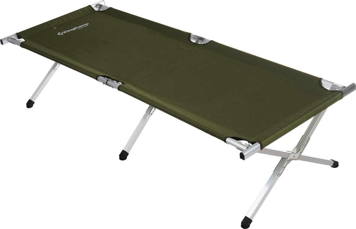 Кровать складная KingCamp Delux Army для кемпинга кровать надувная kingcamp pumpair bed double km3607 синий бежевый 188 х 137 х 22 см
