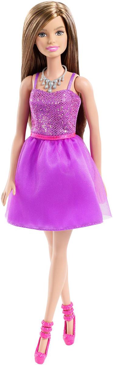 Barbie Кукла Шатенка Сияние моды цвет платья фиолетовый цена 2017