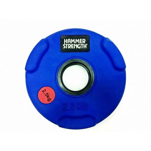 Диск олимпийский цветной HAMMER STRENGTH 2.5