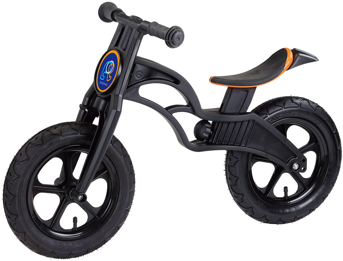 Pop Bike Беговел детский Flash с надувными колесами цвет черный pop bike беговел детский sprint с бескамерными колесами цвет синий