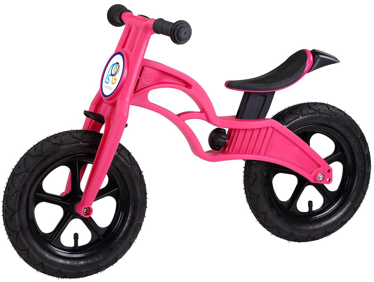 Pop Bike Беговел детский Flash с надувными колесами цвет розовый pop bike беговел детский sprint с бескамерными колесами цвет синий