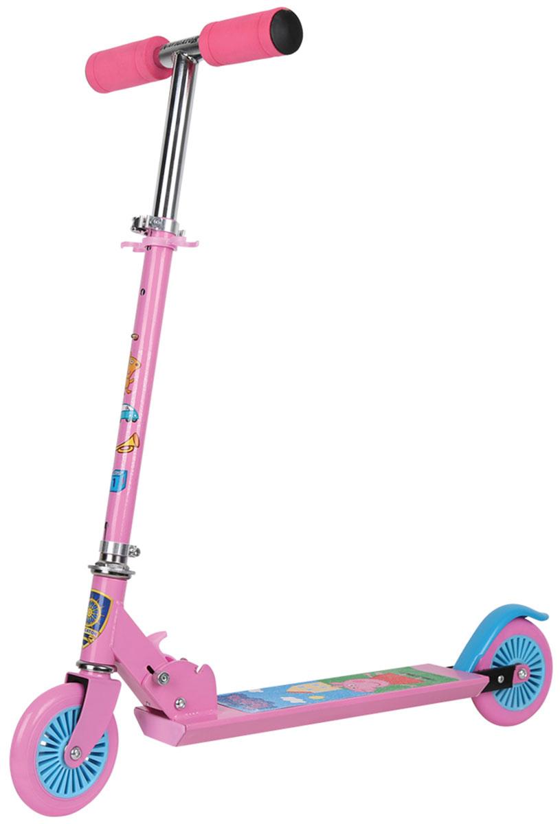 Navigator Самокат двухколесный Peppa цвет розовый голубой г а вайнер л с словин бес в ребро