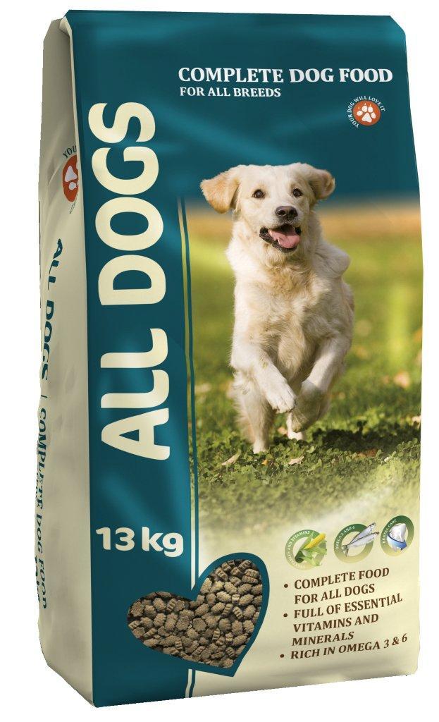 """Корм сухой """"ALL DOGS"""" для взрослых собак всех пород, 13 кг"""
