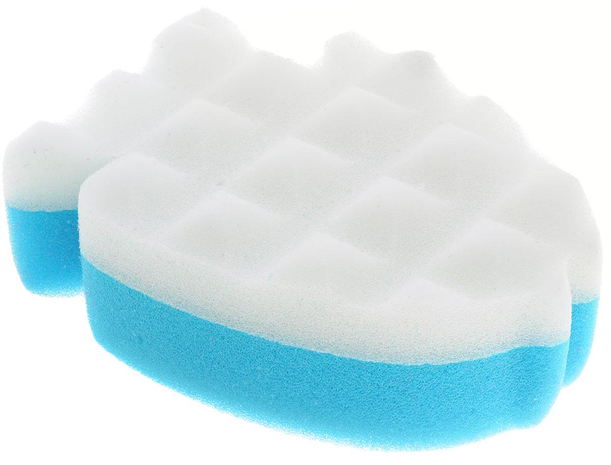 Курносики Мочалка с массажным слоем Рыбка цвет голубой белый курносики мочалка с массажным слоем рыбка цвет голубой белый