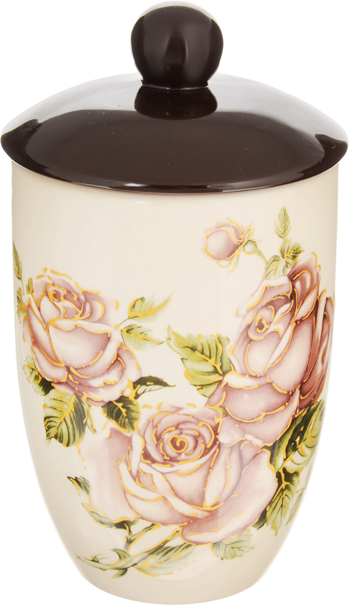 банка для сыпучих продуктов loraine розы и бабочка 750 мл Банка для сыпучих продуктов Loraine Розы, 750 мл. 21671