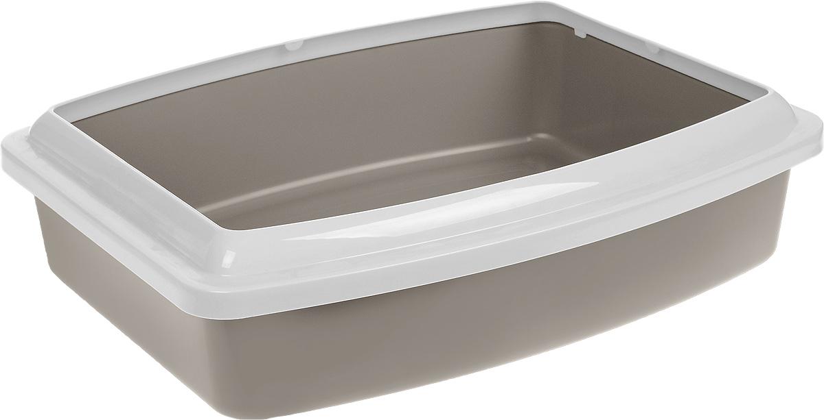 цена на Туалет для кошек Savic Oval Trays Jumbo, с бортом, цвет: в ассортименте, 56 х 43,5 х 14,5 см