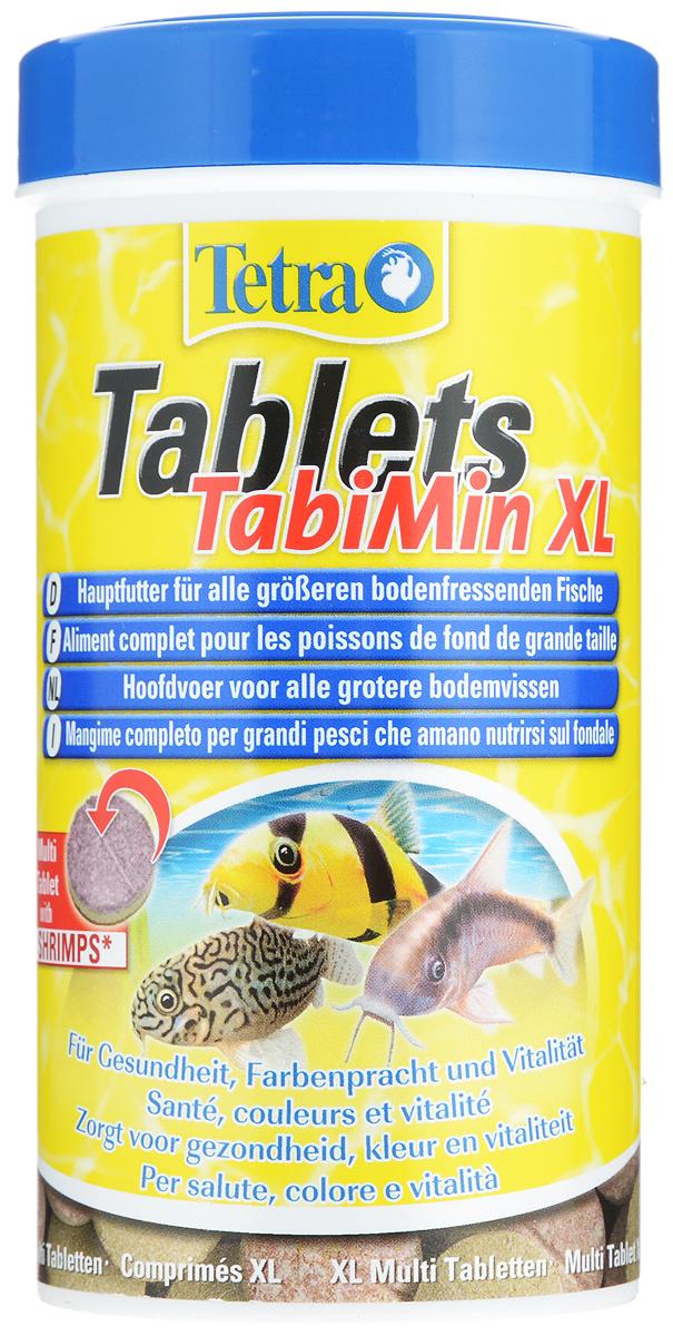 Корм Tetra Tablets TabiMin XL для всех видов крупных донных рыб, 250 мл (135 г), 133 таблетки tetra tabimin