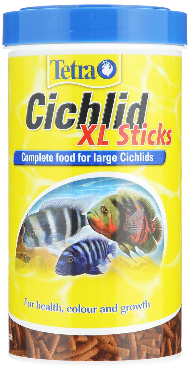 Корм Tetra Cichlid. XL Sticks для всех видов цихлид, палочки, 500 мл (160 г) корм tetra cichlid aglae mini для любых видов небольших цихлид в виде шариков 500 мл