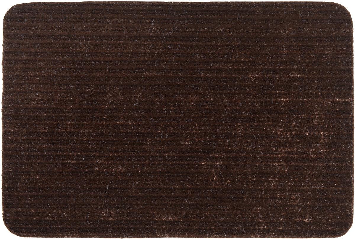Коврик придверный Vortex Simple, влаговпитывающий, цвет: коричневый, 60 х 40 см коврик придверный vortex влаговпитывающий цвет коричневый 50 см х 80 см