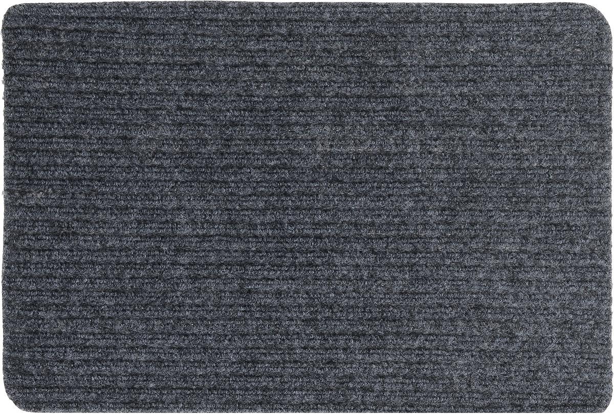 Коврик придверный Vortex Simple, влаговпитывающий, цвет: темно-серый, 60 х 40 см коврик придверный vortex spark цвет синий 40 х 60 см 22353