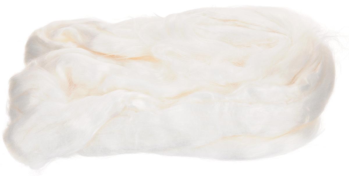 Шерсть для валяния Вискоза, цвет: отбелка (0230), 50 г шерсть для валяния астра тонкая цвет отбелка 0230 100 г