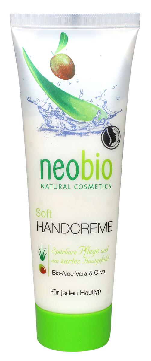 NEOBIO Смягчающий крем для рук, 75 мл neobio детский гель для купания и пена для ванны с био алоэ и био календулой 250 мл
