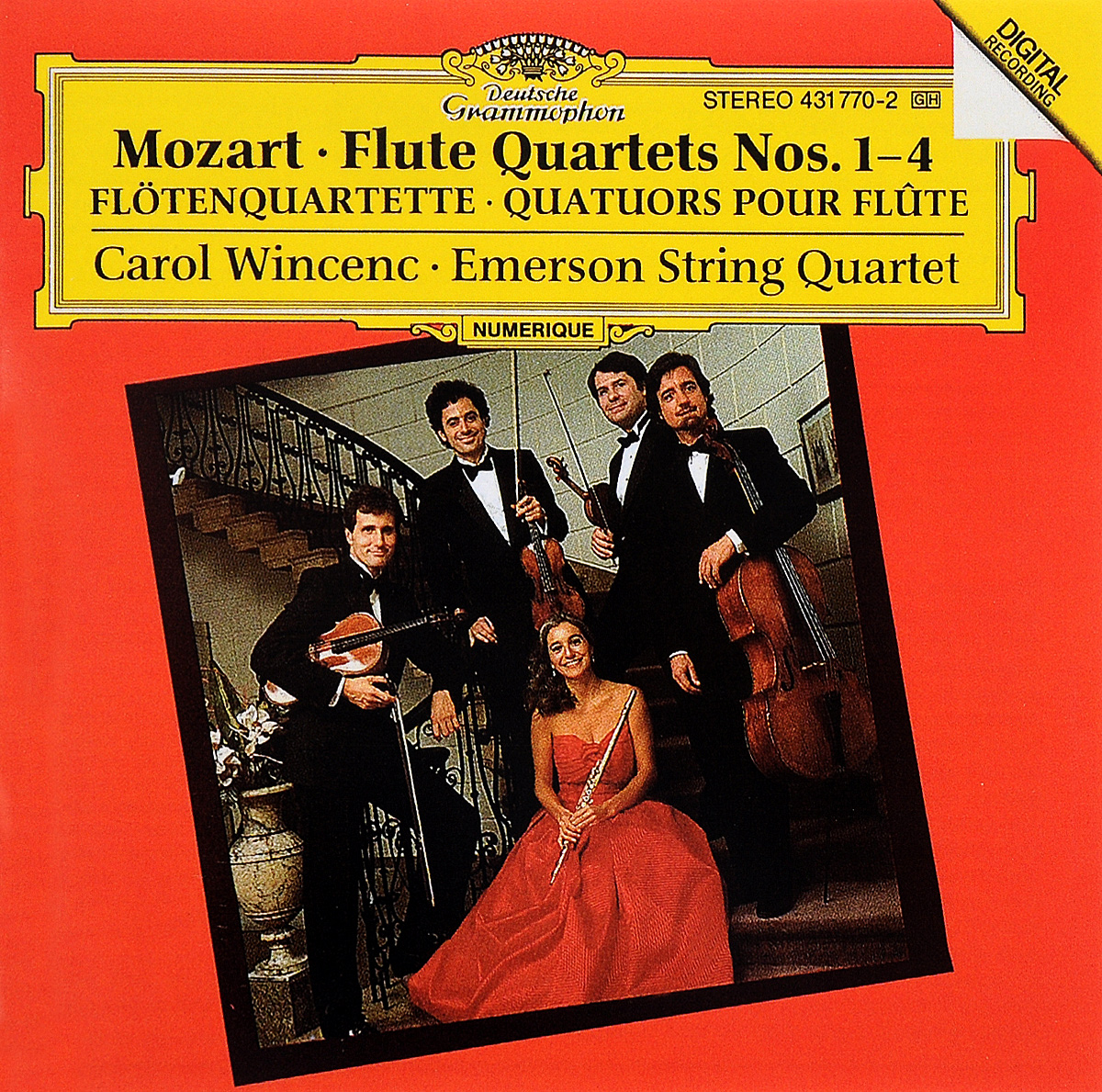 Carol Wincenc,Emerson String Quartet Carol Wincenc. Mozart. Flute Quartets Nos. 1-4 carol grace expecting