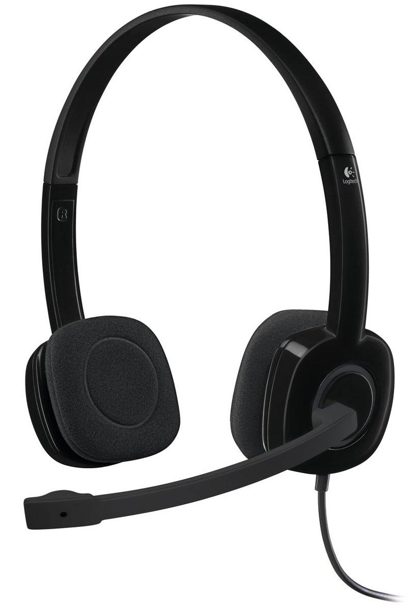 Компьютерная гарнитура Logitech H151 Stereo, Black цена и фото