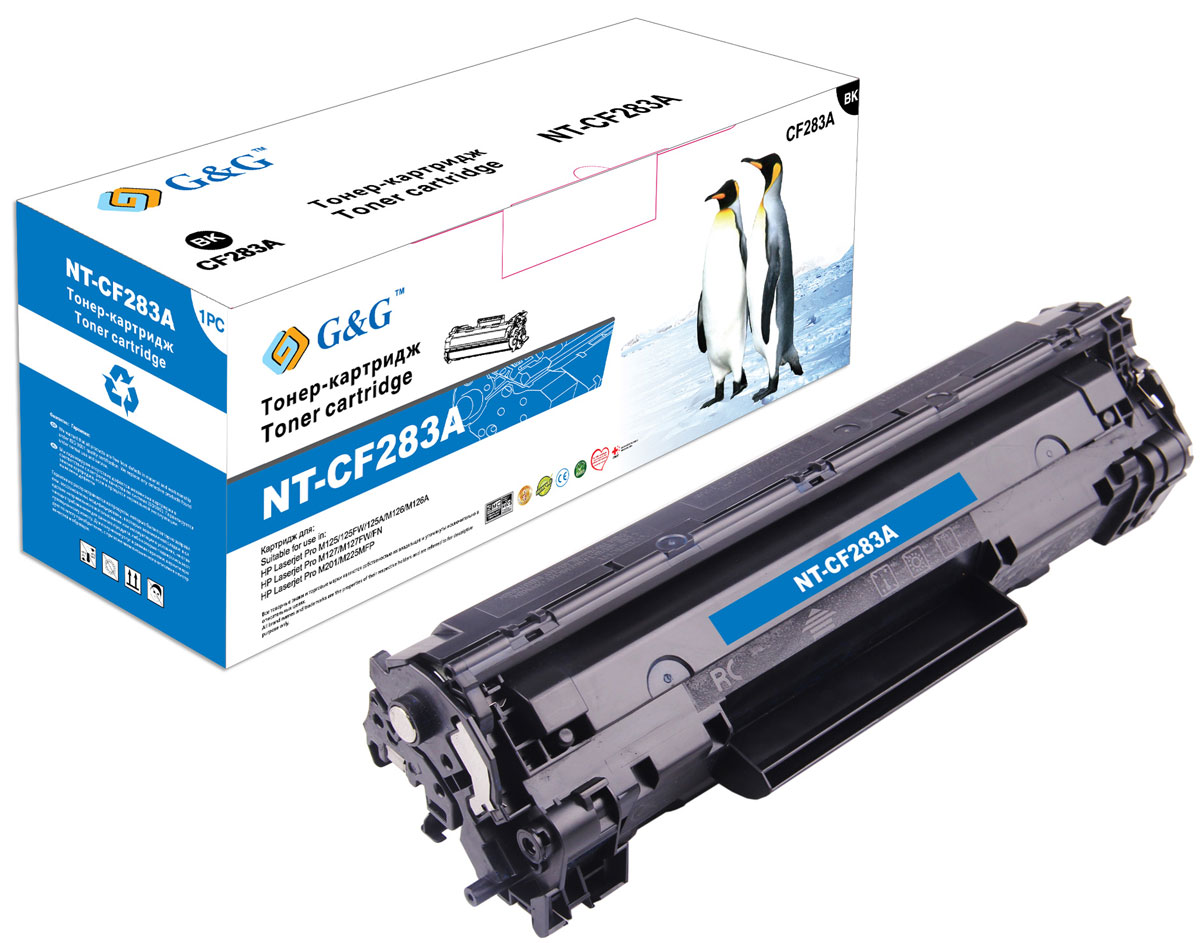Картридж G&G NT-CF283A, черный, для лазерного принтера