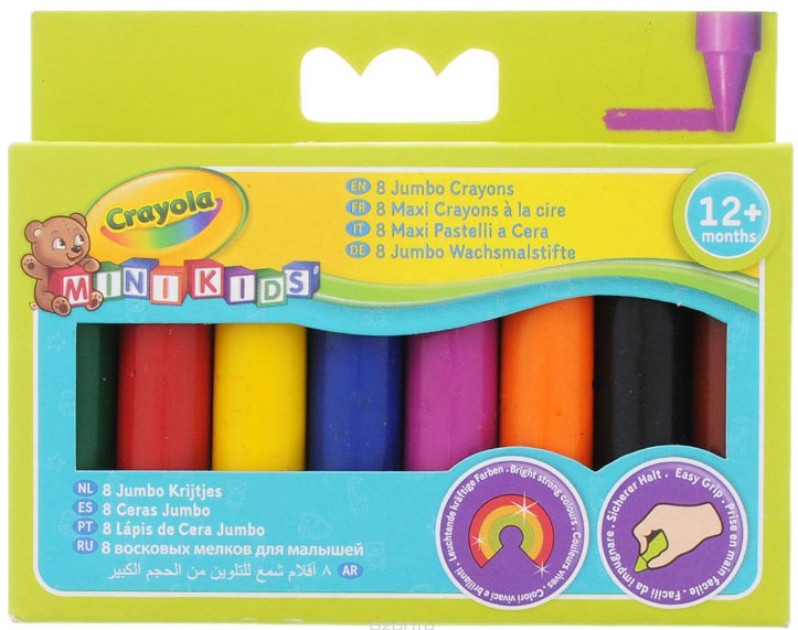 цена на Crayola Набор цветных восковых мелков 8 шт 0080