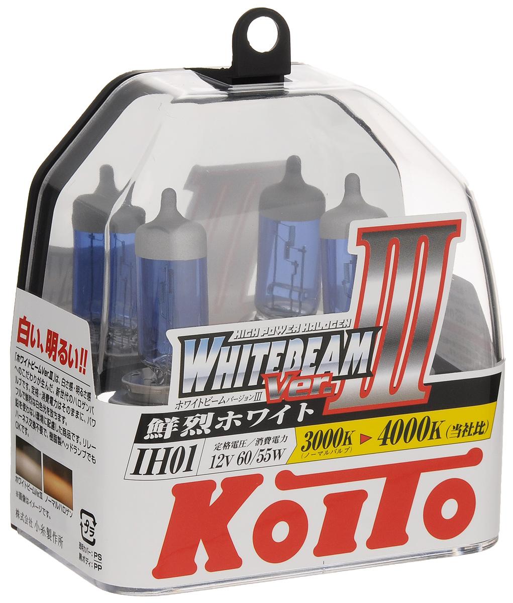 Лампа высокотемпературная Koito Whitebeam IH01 12V 60/55W (100/90W) пластиковая упаковка - 2 шт комплект P0745W