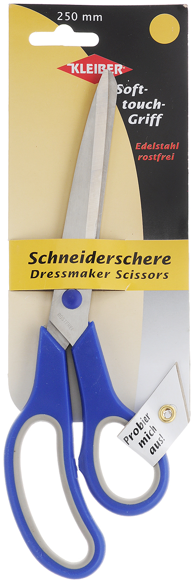 Ножницы портновские Kleiber Мягкий контакт, цвет: синий, серый. длина 25 см эконом свет 1076 3sn wt