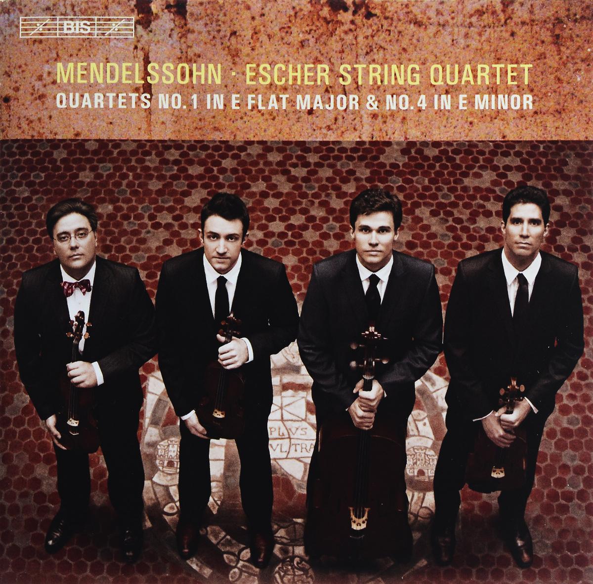 Escher String Quartet Escher String Quartet. Mendelssohn. String Quartets Nos 1 & 4 (SACD) серьги by song quartet 3022