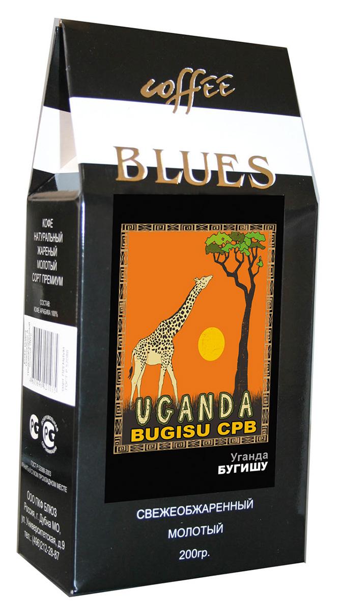 цена на Блюз Бугишу Уганда кофе молотый, 200 г