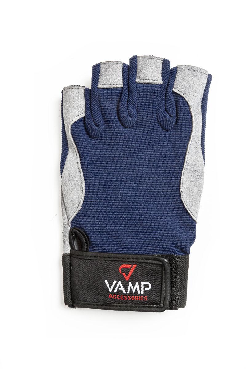 """Перчатки для фитнеса мужские """"Vamp"""", цвет: синий, серый. RE-537. Размер XL"""