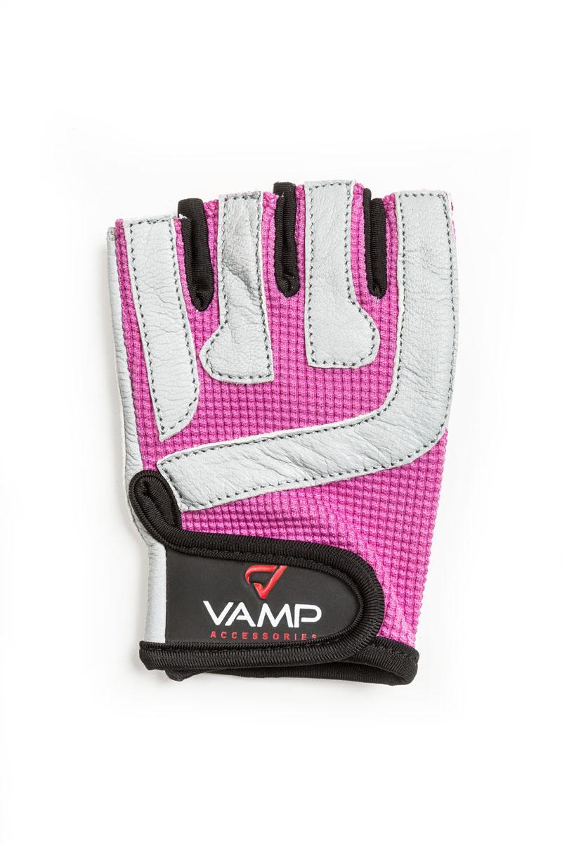 """Перчатки для фитнеса женские """"Vamp"""", цвет: розовый. RE-755. Размер XL"""