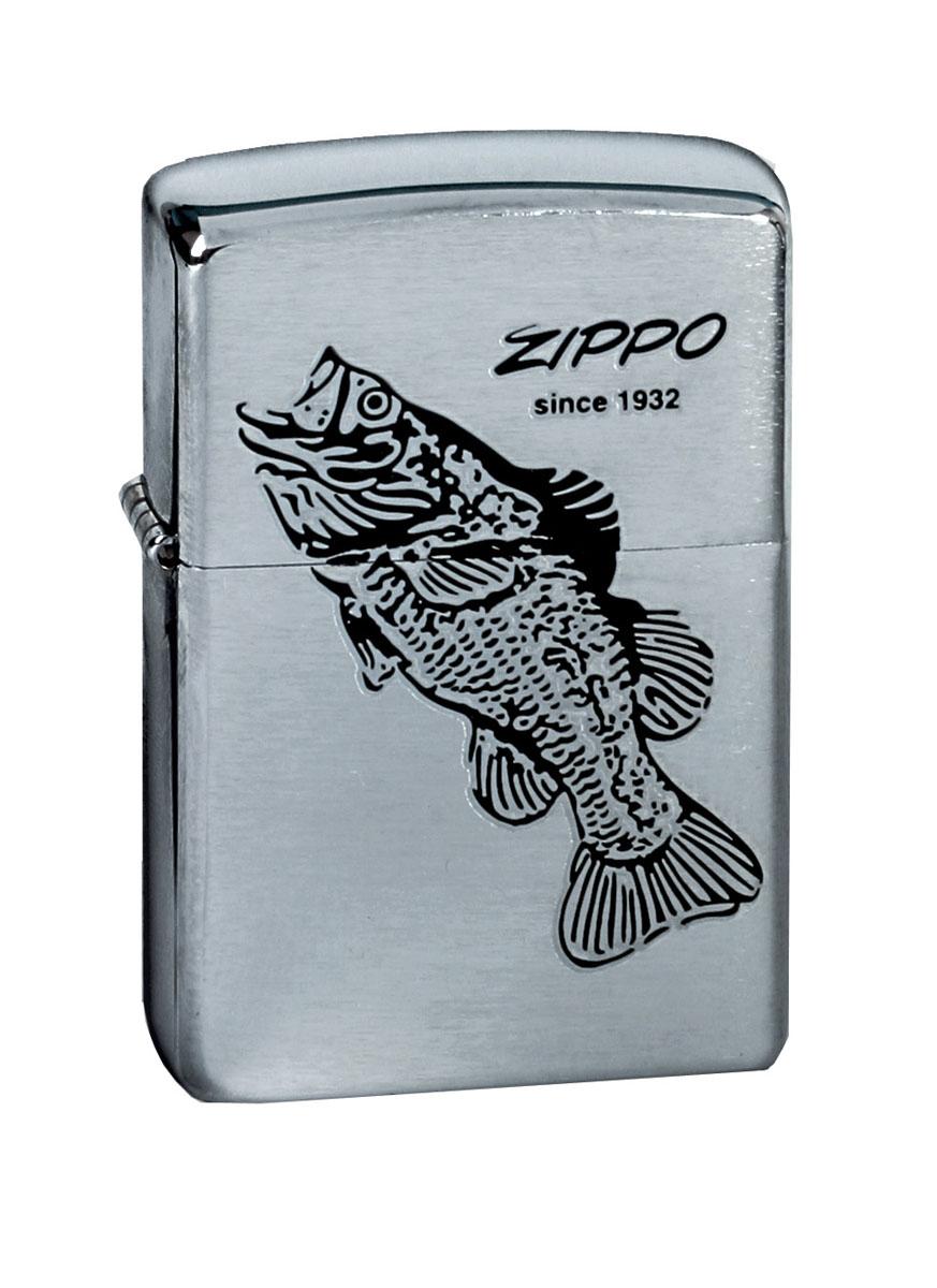 Зажигалка Zippo. 200 Black Bass
