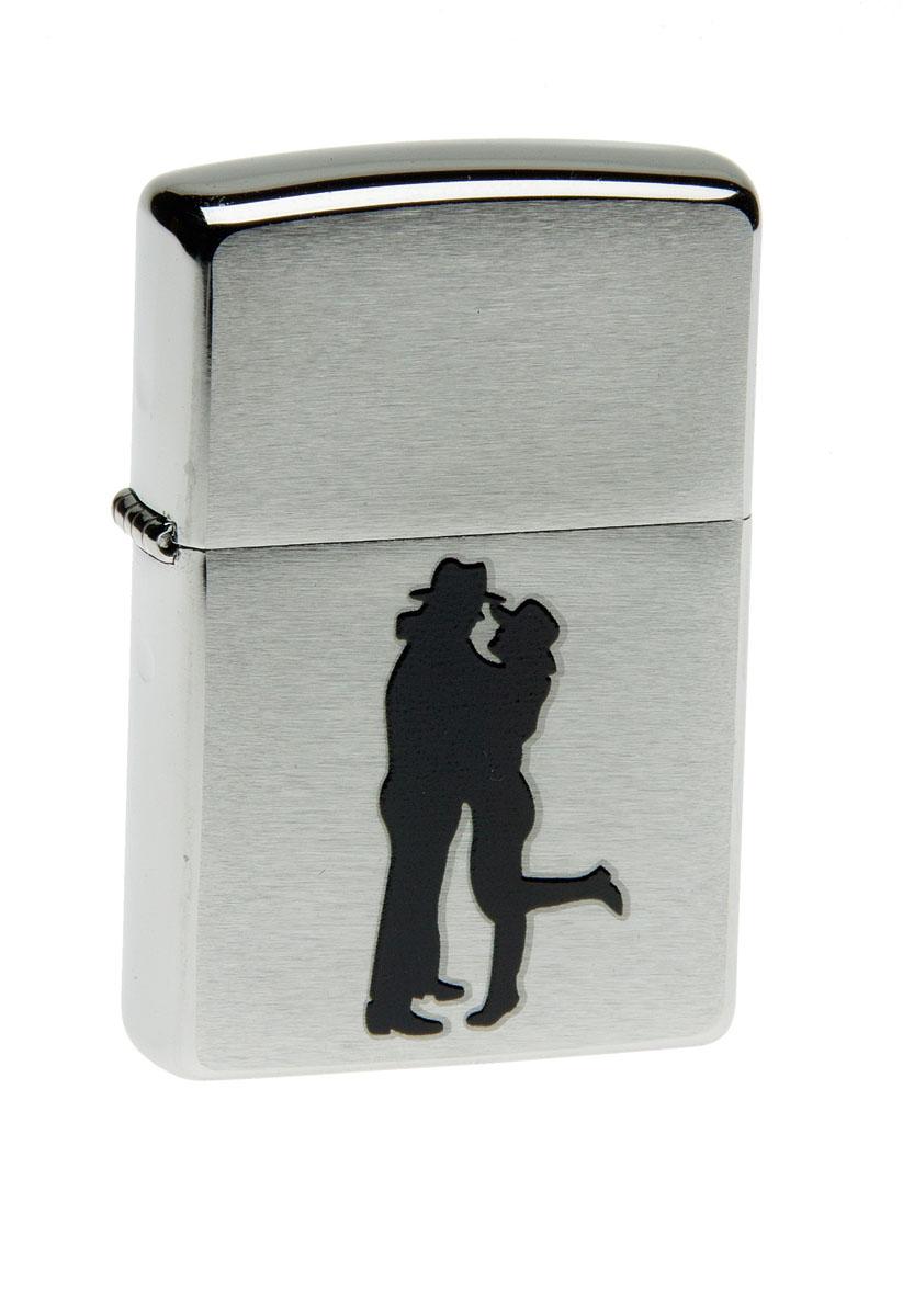 """Зажигалка Zippo """"Classic. Cowboy Couple"""", 3,6 х 1,2 х 5,6 см"""