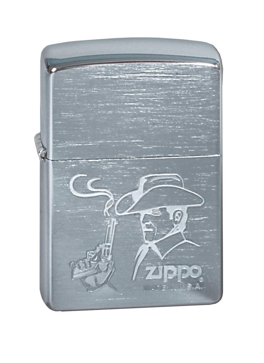 """Зажигалка Zippo """"Classic. Cowboy"""", 3,6 х 1,2 х 5,6 см"""