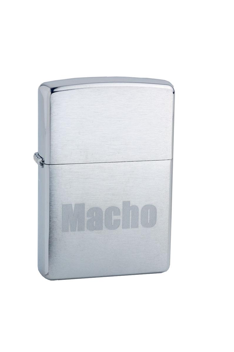 """Зажигалка Zippo """"Classic. Macho"""", 3,6 х 1,2 х 5,6 см"""