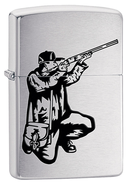 "Зажигалка Zippo ""Classic. Vector Rifle And Hunt"", 3,6 х 1,2 х 5,6 см"