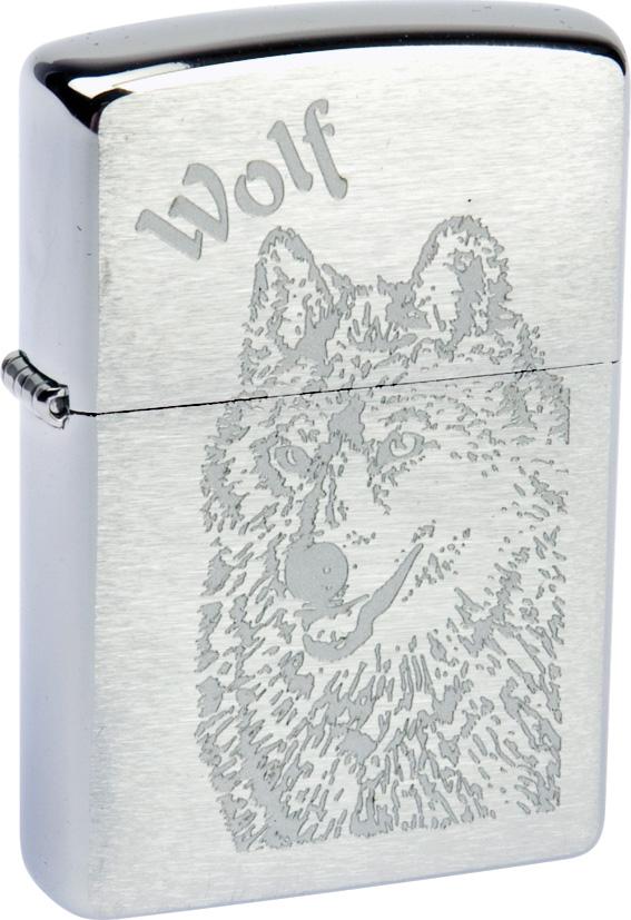 """Зажигалка Zippo """"Classic. Wolf"""", 3,6 х 1,2 х 5,6 см"""