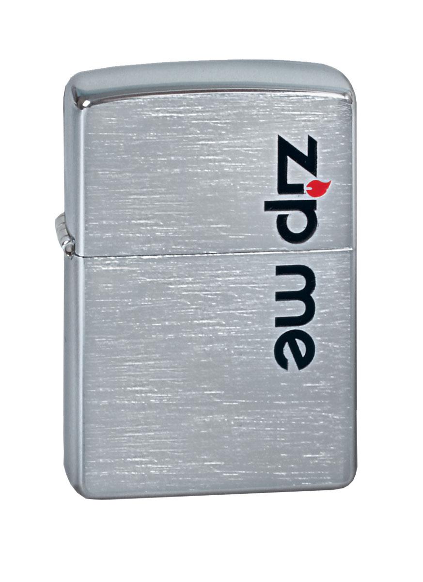 """Зажигалка Zippo """"Classic. Zip Me"""", 3,6 х 1,2 х 5,6 см"""